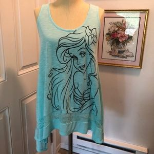 Disney Little Mermaid Tunic Tank Top